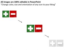 0314 Business Ppt Diagram Green Positive Red Negative Signs Powerpoint Template