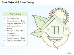 0314 Business Ppt Diagram Home Lights With Green Energy Powerpoint Template