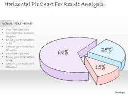 0314 Business Ppt Diagram Horizontal Pie Chart For Result Analysis Powerpoint Templates