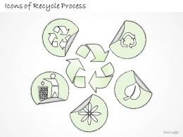 0314 Business Ppt Diagram Icons Of Recycle Process Powerpoint Template