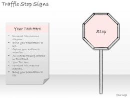 0314 Business Ppt Diagram Illustration Of Stop Road Sign Powerpoint Template