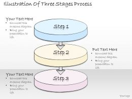 0314 Business Ppt Diagram Illustration Of Three Staged Process Powerpoint Template