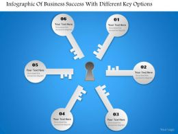 0314 Business Ppt Diagram Infographic Of Business Success With Different Key Options Powerpoint Template