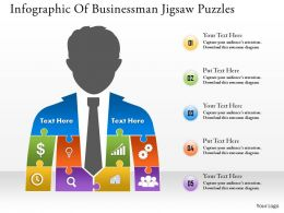 0314 Business Ppt Diagram Infographic Of Businessman Jigsaw Puzzles Powerpoint Template