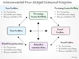 0314_business_ppt_diagram_interconnected_four_staged_diamond_diagram_powerpoint_templates_Slide01