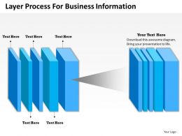 0314 Business Ppt Diagram Layer Process For Business Information Powerpoint Template