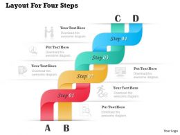 0314 Business Ppt Diagram Layout For Four Steps Powerpoint Template