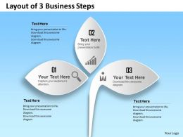 0314 Business Ppt Diagram Layout of 3 Business Steps Powerpoint Template