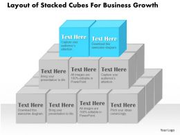 0314 Business Ppt Diagram Layout of Stacked Cubes For Business Growth Powerpoint Template