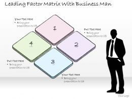 0314 Business Ppt Diagram Leading Factor Matrix With Business Man Powerpoint Templates