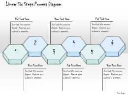 0314 Business Ppt Diagram Linear Six Steps Process Diagram Powerpoint Templates