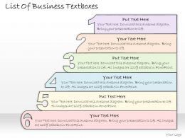 0314 Business Ppt Diagram List Of Marketing Activities Powerpoint Template