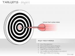 0314 Business Ppt Diagram Meeting The Business Targets Powerpoint Template