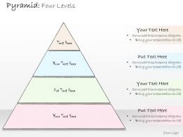0314 Business Ppt Diagram Pyramid Showing Four levels Powerpoint Template
