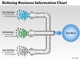 0314 Business Ppt Diagram Refining Business Information Chart Powerpoint Template