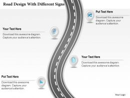 0314 Business Ppt Diagram Road Design With Different Signs Powerpoint Template
