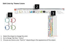 0314 Business Ppt Diagram Round Five Numbered Diagram Powerpoint Template