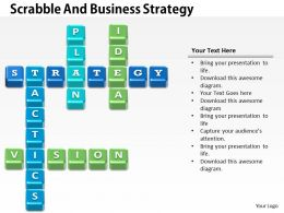 0314 Business Ppt Diagram Scrabble And Business Strategy Powerpoint Template