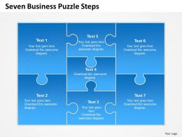 0314 Business Ppt Diagram Seven Business Puzzle Steps Powerpoint Template
