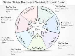 0314 Business Ppt Diagram Seven Stage Business Organizational Chart Powerpoint Templates