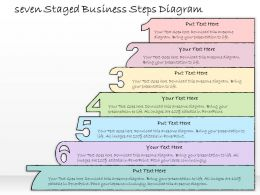 0314 Business Ppt Diagram Seven Staged Business Steps Diagram Powerpoint Templates