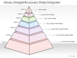 0314 Business Ppt Diagram Seven Staged Triangular Process Diagram Powerpoint Templates
