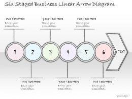 0314 Business Ppt Diagram Six Staged Business Linear Arrow Diagram Powerpoint Templates
