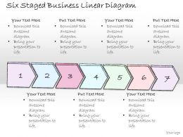 0314 Business Ppt Diagram Six Staged Business Linear Diagram Powerpoint Templates