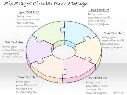 0314 Business Ppt Diagram Six Staged Circular Puzzle Design Powerpoint Templates