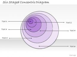 0314 Business Ppt Diagram Six Staged Concentric Diagram Powerpoint Templates
