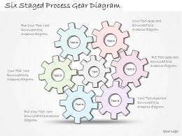 0314 Business Ppt Diagram Six Staged Process Gear Diagram Powerpoint Templates