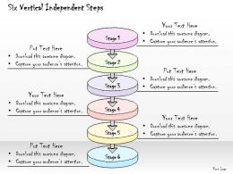 0314 Business Ppt Diagram Six Vertical Independent Steps Powerpoint Templates