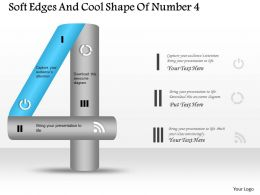 0314 Business Ppt Diagram Soft Edges And Cool Shape Of Number 4 Powerpoint Template