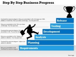 0314 Business Ppt Diagram Step By Step Business Progress Powerpoint Template