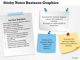 0314 Business Ppt Diagram Sticky Notes Business Graphics Powerpoint Template