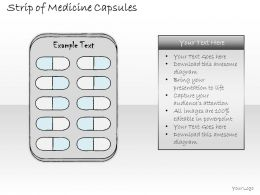 0314 Business Ppt Diagram Strip Of Medicine Capsules Powerpoint Template
