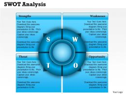 0314 Business Ppt Diagram SWOT Analysis Powerpoint Template