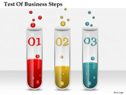 0314 Business Ppt Diagram Test Of Business Steps Powerpoint Template