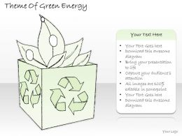 0314 Business Ppt Diagram Theme Of Green Energy Powerpoint Template
