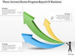 0314 Business Ppt Diagram Three Arrows Shows Progress Report Of Business Powerpoint Template