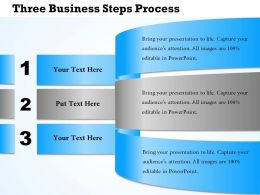 0314 Business Ppt Diagram Three Business Steps Process Powerpoint Template