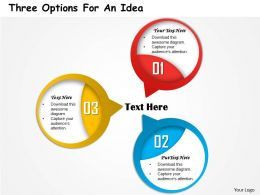 0314 Business Ppt Diagram Three Options for An Idea Powerpoint Template