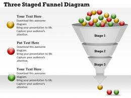 0314 Business Ppt Diagram Three Staged Funnel Diagram Powerpoint Template
