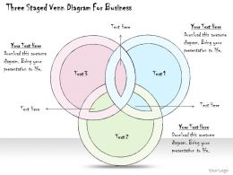 0314 Business Ppt Diagram Three Staged Venn Diagram For Business Powerpoint Templates