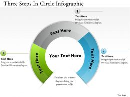 0314 Business Ppt Diagram Three Steps In Circle Infographic Powerpoint Template