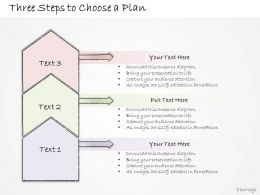0314 Business Ppt Diagram Three Steps To Create A Plan Powerpoint Template