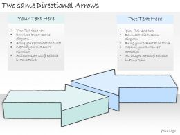 0314 Business Ppt Diagram Two Same Directional Arrows Powerpoint Templates