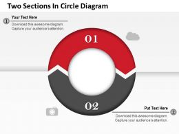 0314 Business Ppt Diagram Two Sections In Circle Diagram Powerpoint Template