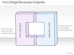 0314 Business Ppt Diagram Two Staged Business Diagram Powerpoint Templates