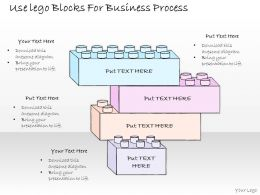 0314 Business Ppt Diagram Use Lego Blocks For Business Process Powerpoint Templates